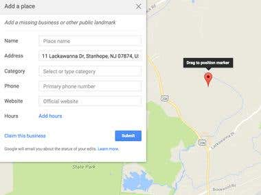 Data Entry Job,add missing place to google maps