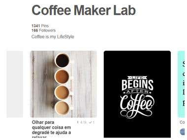 Pinterest Marketing Manager for Coffee Maker Lab