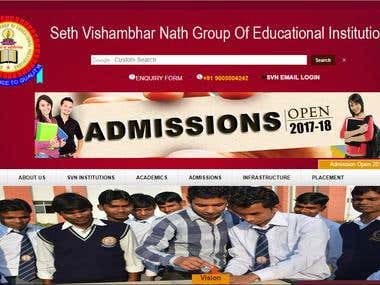 Educational College Website