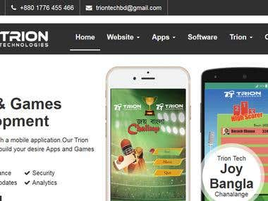 Apps and Games Development company website development