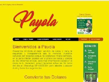 Diseño y desarrollo de Pagina web Payola.com.ve