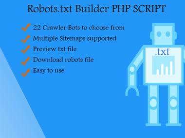Robots.txt Builder - PHP Script