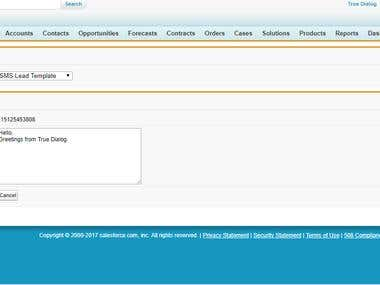SMS Integration project with Salesforce