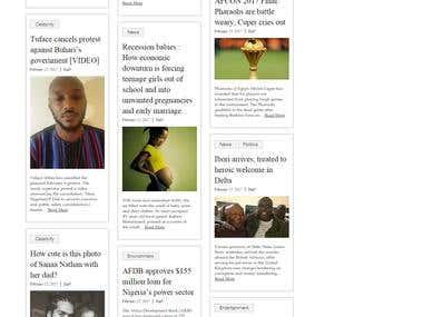 premierdigest Project (Wordpress, Bootstrap)