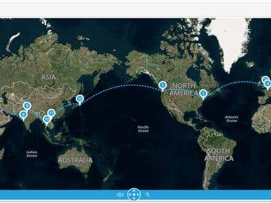 WPF WorldMap around Trip
