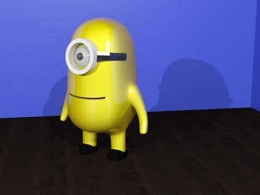 Minion made using 3D Studio Max