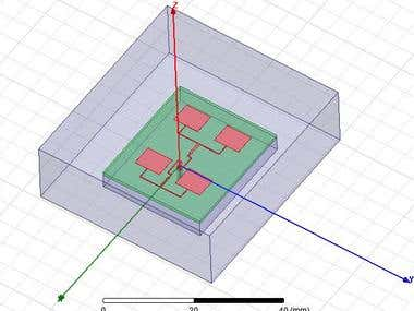 HFSS Model for 17 GHz Band Antenna