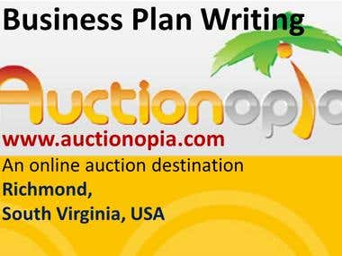 Business Plan for an Online Auction Enterprise