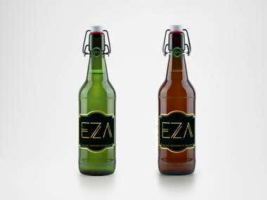 Labels design for EZA-Hellenic Breweries of Atalanti