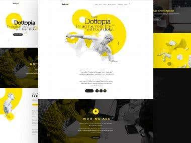 Dottopia web design