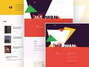Personal Web site design