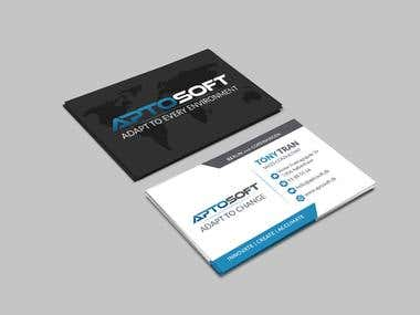 Business card - Aptosoft