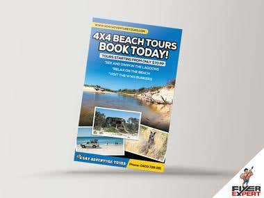 Flyer design for a Tour/Travel company
