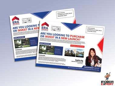 A5 LANDSCAPE Flyer design for a REAL ESTATE AGENT.