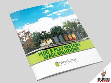 A4 Brochure design for a Real Estate Company