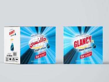 Glancy cleaner package Design
