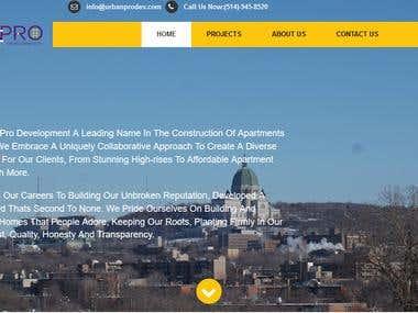Construction Company website Development.