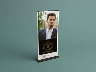 Royal online shopping Roll-up & Business card