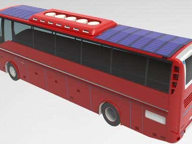 3d model of luxury bus