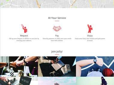 Landing page development for Joiliy