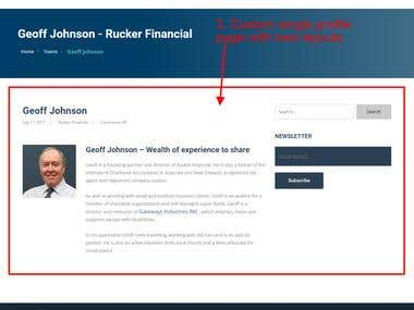 Rucker financial (Website modify)