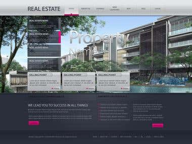 Template Real Estate Site