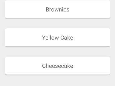Baking App