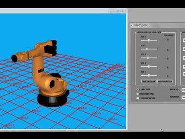 Simulación de Brazo Robot 5GDL