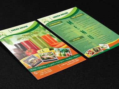 juice place Brochure Desige