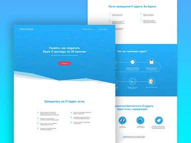 Microsys landing page