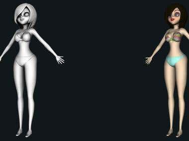 Animated Character Model