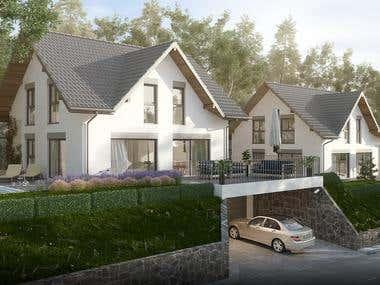 Exterior rendering - Residential
