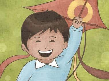 Diffrent children illustrations