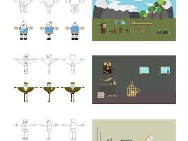 Characters for Motion graphic - AE