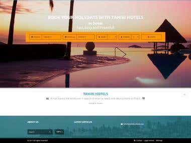 Website for tahirihotels.com