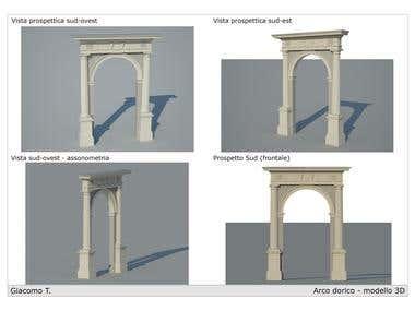 Doric 3D model Arch