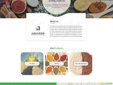 Logo and website design for JAYVEER