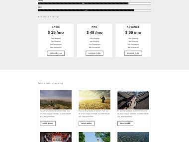 web psd design