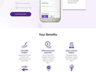 Transferfriend - Web Design