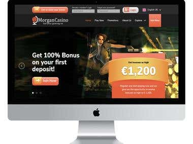 Morgan Casino - Web Design