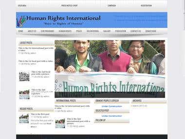 Human Rights International (by wordpress)