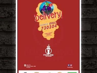 Poster Delivery / Ilustración a mano alzada.