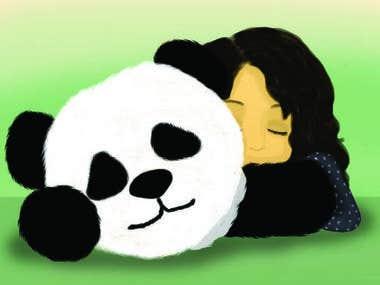 Ilustración con Panda