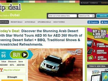 Daily Deal Website; http://www.tipadeal.com/dubai/