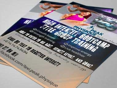 Flyer - Fitness - PeakPhysique