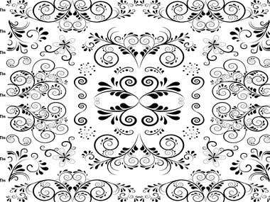 repeating floral scroll art