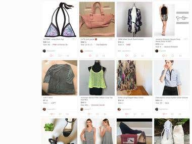 web design and Social Media Promotion of poshmark