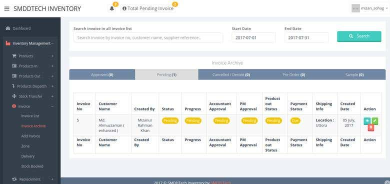 Code Igniter Inventory and Accounts Management Software | Freelancer