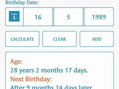 Age Calculator - Birthday Reminder in Google PlayStore