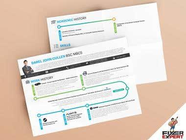 Info-graphic CV Design